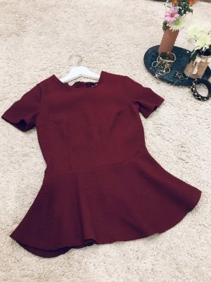 H&M Divided Frill Top bordeaux polyester