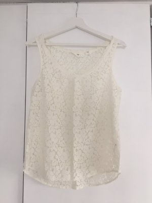 H&M Lace Top natural white