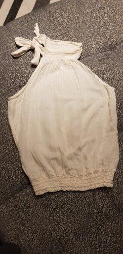 Bodyflirt Top senza maniche bianco sporco