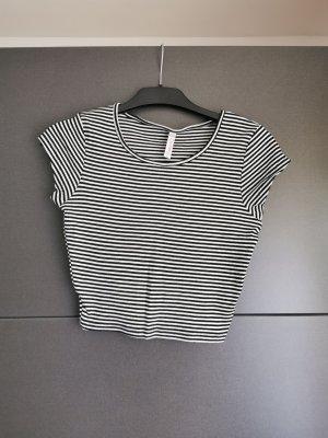 Basic topje wit-zwart