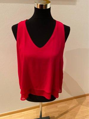 Zara Volanten top rood