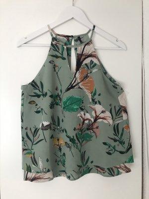 Only Haltertop grijs-groen-lichtgroen Polyester
