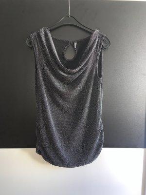 Jean Pascale Camisa con cuello caído color plata