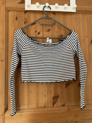H&M Divided Off the shoulder top wit-zwart
