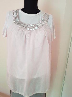 Saint Tropez Camisa de mujer color plata-rosa
