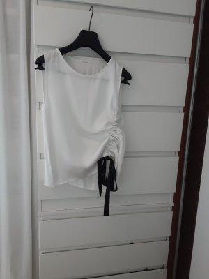 Glanzende blouse wit-zwart Viscose