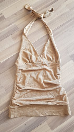 H&M Backless Top gold-colored