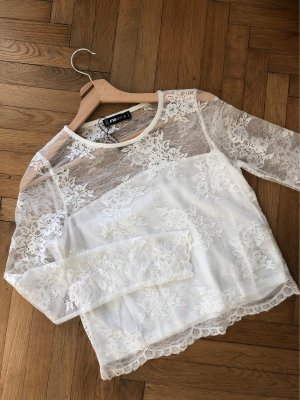 FB Sister Cropped top wolwit-wit
