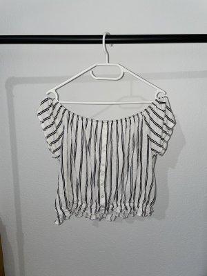 H&M Blouse topje wit-zwart