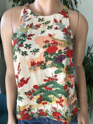 Zara Trafaluc Top cut-out rosso-verde chiaro