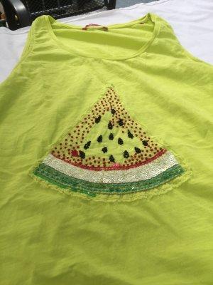 edc by Esprit Top lungo giallo lime-giallo neon