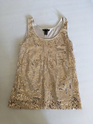 H&M Crochet Top rose-gold-coloured-gold-colored