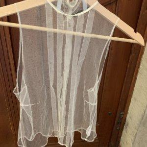John Richmond Knitted Top natural white silk