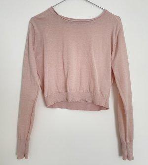 Pull & Bear Top corto rosa chiaro