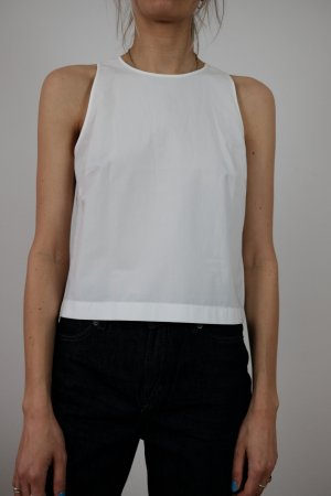 Drykorn A Line Top white cotton