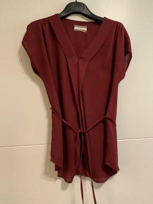 Jennifer Taylor Camisa de mujer rojo oscuro