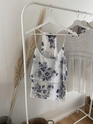 Atmosphere Blouse topje wit-blauw