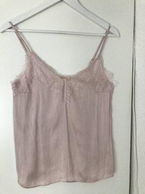 H&M Koronkowy top w kolorze różowego złota Poliester