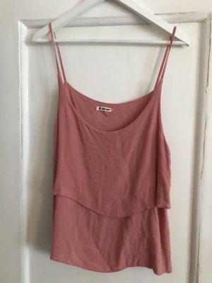 Top de tirantes finos color rosa dorado-rosa