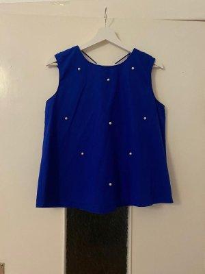 Zara Volanten top blauw