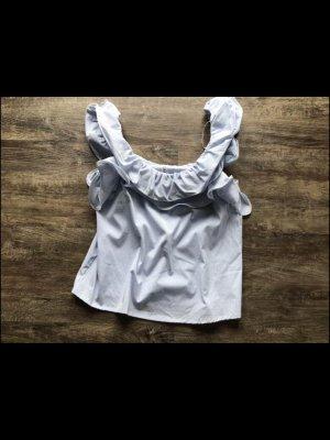 Viva Couture Haut évasé en bas bleu-blanc