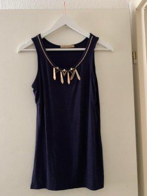 Lange top donkerblauw