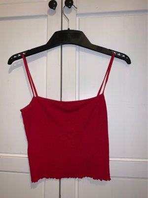 H&M Top basic rosso scuro