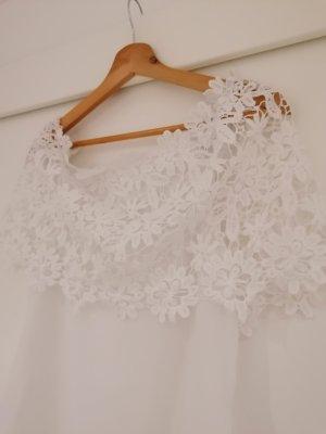 Blusa trasparente bianco