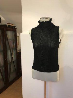 Zara Knit Haut col roulé noir