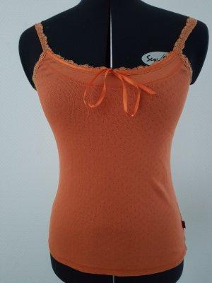 Top con bretelline arancione scuro Cotone