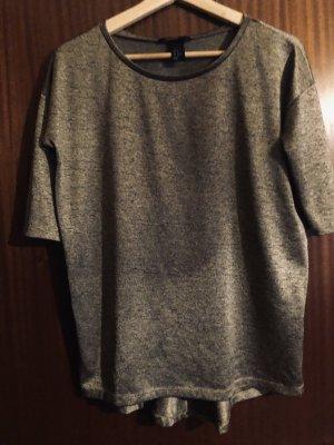 H&M Camisa de manga corta gris antracita