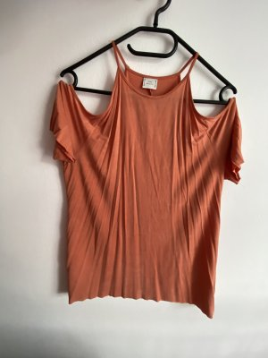 Zara Top cut out albaricoque