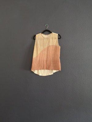 Zara Blouse topje donkerrood-wit Polyester