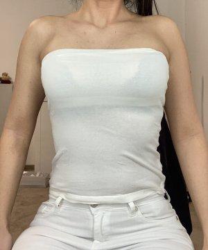 H&M Top spalle scoperte bianco