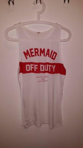 OVS Camiseta sin mangas blanco-rojo