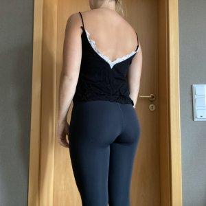 Zara Kanten topje wit-zwart