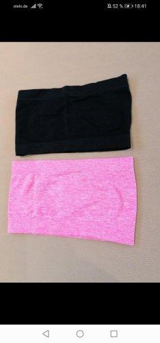 Canotta nero-rosa