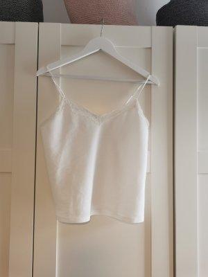 Zara Koronkowy top biały