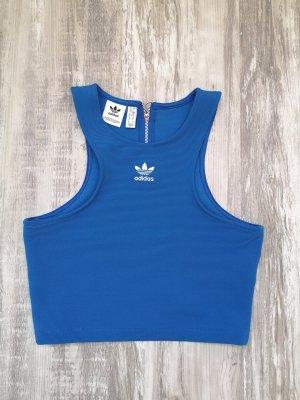 Adidas Top sportowy niebieski neonowy