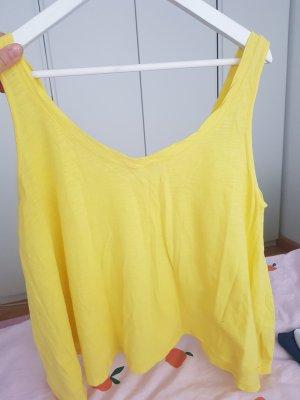 Gina Tricot Top met spaghettibandjes sleutelbloem-geel