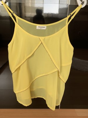 Cherry Koko Peplum Top yellow