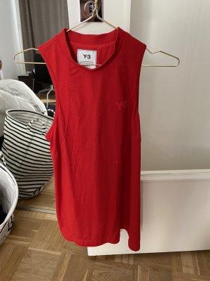 Adidas Y3 Top long rouge foncé-rouge