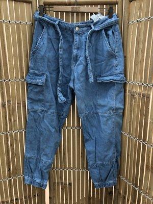 Zara Cargobroek korenblauw