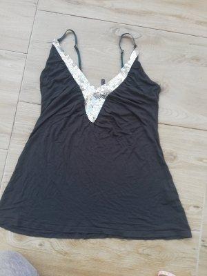 Amisu V-Neck Shirt silver-colored-anthracite