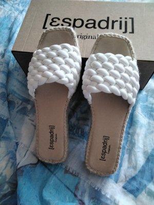 Espadrij Espadrille sandalen wit Gemengd weefsel