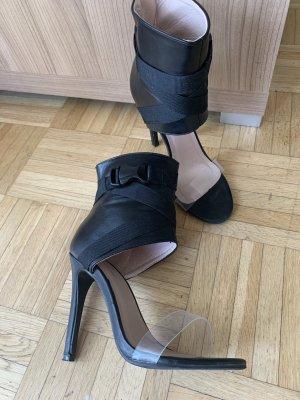 TOP! Ankle HighHeel Sandalen - Black/Schwarz - Größe 36 - Stiletto