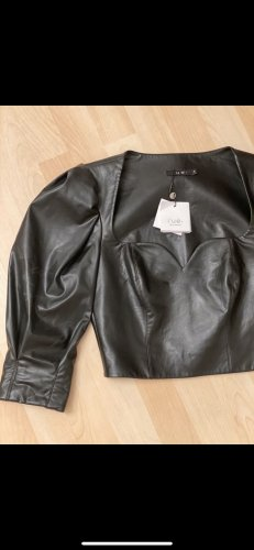 rue+ Leather Blouse black