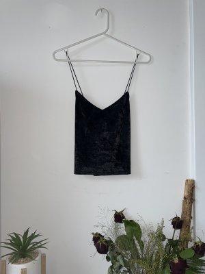 Amisu Cropped top zwart