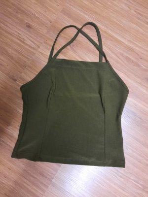 Melrose Backless Top green grey