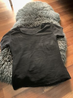 Mesh Shirt black-silver-colored